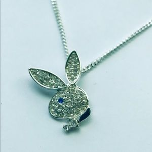 Playboy Licensed Rhinestone Bunny Necklace